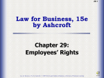 Ch29: Employees Rights