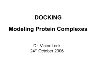 Topics in Protein-Protein Docking