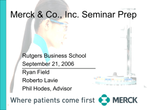 Merck & Co. Seminar Prep