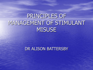 principles of management of stimulant misuse