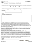 REQUEST FOR FINANCIAL ASSISTANCE 1 (Permanent)