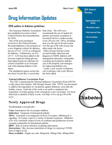 Drug Information Updates 2010 update to diabetes guidelines