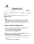 Nova Southeastern University Standard Operating Procedure for GCP Version # 1