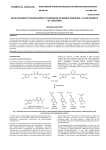 BIOAVAILABILITY ENHANCEMENT TECHNIQUES OF HERBAL MEDICINE: A CASE EXAMPLE OF CURCUMIN