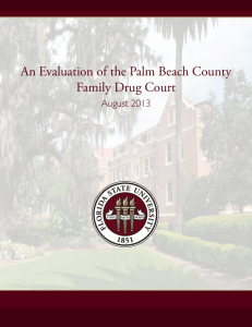 An Evaluation of the Palm Beach County Family Drug Court August 2013