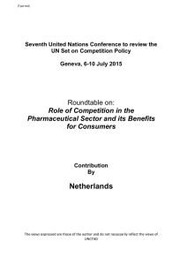 Roundtable on: Role of Competition in the Pharmaceutical Sector and its Benefits