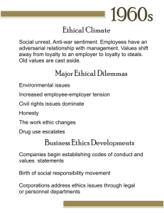 1960s Ethical Climate