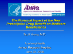 The Potential Impact of the New Prescription Drug Benefit on Medicare Beneficiaries