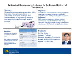 Synthesis of Bioresponsive Hydrogels for On-Demand Delivery of Therapeutics