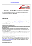 Utah Aging & Disability Resource Connection Newsletter