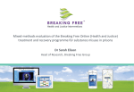 Mixed-methods evaluation of the Breaking Free Online (Health and Justice)
