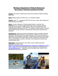 Michigan Department of Natural Resources Non-Career Fisheries Assistant Position