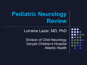 Pediatric Neurology Review - American Academy of Pediatrics
