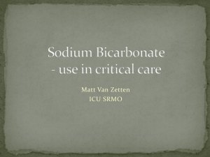 Sodium Bicarbonate - use in critical care