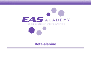 Beta-alanine Supplementation
