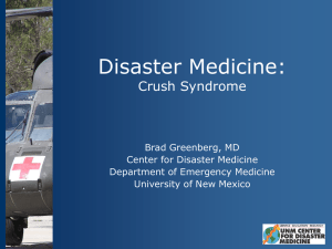 Crush Syndrome - UNM Emergency Department