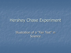 Hershey Chase Experiment