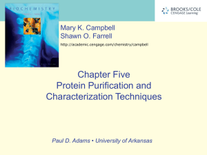 Ch. 5. Protein Purification and Characterization Techniques