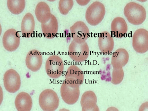 Cardiovascular: Blood - Misericordia University