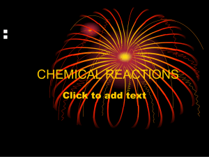 NOTES CHEMICAL REACTIONS: