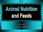 Animal Nutrition and Feeds - Louisiana Tech University