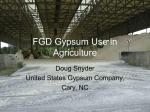 FGD Gypsum Use in Agriculture