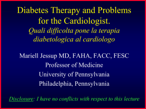 Diabetes Therapy and Problems for the Cardiologist. Quali