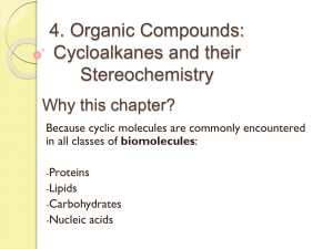 Cycloalkanes - faculty at Chemeketa
