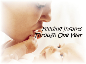 Infant Feeding Through Year One