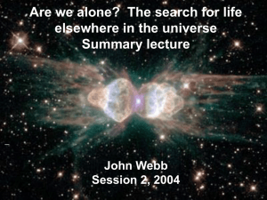Are we alone? - School of Physics