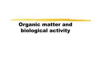 Organic matter and biological activity