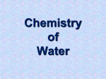 Chemistry of Water Notes