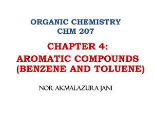 chapter 4 -aromatic compounds
