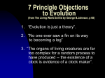 7 Principle Objections to Evolution (cont`d)