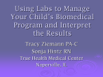 Using Labs to Manage Your Child`s Biomedical
