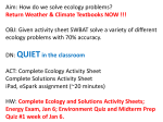 Ecology and Solutions Activity Sheet