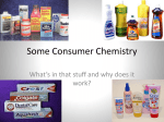 Some Consumer Chemistry