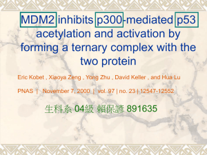 MDM2 inhibit p300-mediated p53 acetylation and activation by