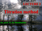 02. Titration method