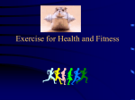 Exercise for Health and Fitness