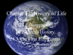 Chapter 14: History of Life