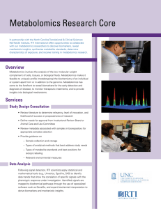 Metabolomics Research Core