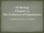 C23 Evolution of Populations
