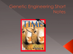 Genetic Engineering Short Notes