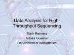 Data Analysis for High-Throughput Sequencing