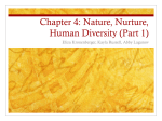 Chapter 4: Nature, Nurture, Human Diversity