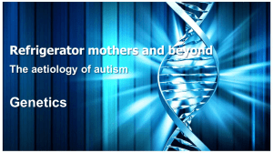 The Biology of Autism
