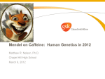 Mendel on Caffeine: Human Genetics in 2012