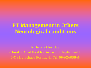PT Management in Others Neurological conditions