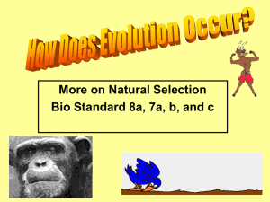 How Does Evolution Occur? - Downtown Magnets High School